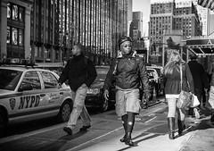 Messenger (mkc609) Tags: street nyc newyorkcity urban blackandwhite bw ny newyork blackwhite candid streetphotography x100 fujix100