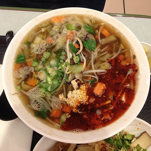 Vegetarian noodle soup from Yun Noodle House.