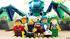 Week 50 (chrisofpie) Tags: chris project pie toy toys outdoors monkey funny dragon lego jester lol doug liam legos hero knight brave heroes minifig roger weeks mime 52 greendragon minifigure minifigures 52weeks stunningphotography legohero whitejester dragonwizard chrisofpie rogeranddoug 365legos dougthechimp 52weeksofliamthemime