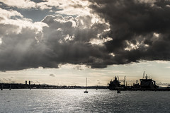 Something Wicked This Way Comes (duncan_mclean) Tags: weather clouds yard ominous navy auckland naval sunbeam devonport stanleybay
