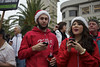 He Texts, She Scores (Generik11) Tags: sf red people booze santacon frankchu sfist santarchy santasuits santacon2012 sfsanta12