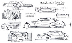 2025 Lincoln Town Car (Tyler Linner) Tags: car design town sketch drawing automotive retro lincoln