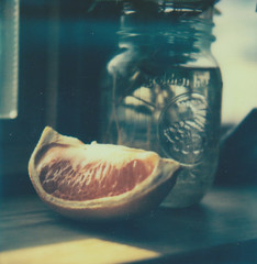 (Dependent on the Winds) Tags: life food plant film window fruits polaroid mason roots naturallight instant grapefruit polaroids windowsill windowlight colorfilm polaroidcamera instantfilm masonjars polaroidpicture px70 impossibleproject colorpolaroids