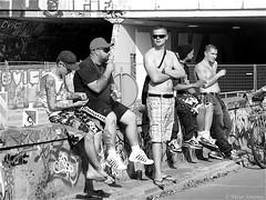 It was a beautiful day (Akbar Simonse) Tags: street people urban bw holland men blancoynegro netherlands monochrome amsterdam graffiti zwartwit candid nederland streetphotography delft bn tattoos stad straatfotografie irenetunnel tatoeages akbarsimonse