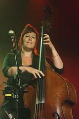 Show Of Hands (2016) 09 - Miranda Sykes (KM's Live Music shots) Tags: folkmusic greatbritain showofhands mirandasykes doublebass sidmouthfolkweek hamconcertmarquee