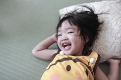 Happy Child (藍川芥 aikawake) Tags: happy child baby cute smile happiness wonderful great love kid children childhood littlechild littlegirl laugh 小孩 lay 小女孩 可愛 寶貝 開心 快樂 開懷 躺著 portrait 肖像 精彩 生活 微笑 hair