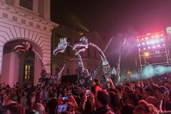 Singapore Night Festival (BP Chua) Tags: sgnightfest singapore night performance invasion closeact festival dinosaur mynthical creatures stiltwalker people lights nikon d750