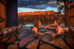Relax (inlightful) Tags: springs pool hotsprings riverbend riogrande soak relax vacation vacay romantic getaway evening dusk mountain clouds sky water reflection southwest newmexico truthorconsequences goldenhour