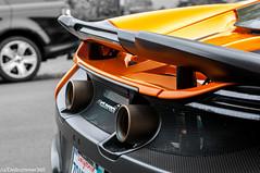 McLaren 675LT Rear (dvdrummer360) Tags: mclaren 675lt 650s tailpipes exhaust supercar monterey car week black white range hypercar
