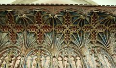 Bramfield, Suffolk (Vitrearum (Allan Barton)) Tags: bramfield suffolk church medieval roodscreen polychromy saints apostles coving angels heaven sky stars