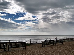 Kingsdown - Kent (jcbkk1956) Tags: kingsdown kent beach seafront nikon coolpix4300 clouds child woman mother contrejoure sea seaside benches railings worldtrekker seascape englishchannel