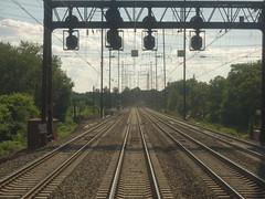201607163 Amtrak Northeast Corridor (taigatrommelchen) Tags: 20160730 usa nj newjersey newark central perspective railway railroad onboard amtrak