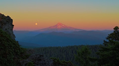 Day Is Done (Erdos2) Tags: mounthood fullmoon moon larchmountain summer sunset
