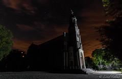Eglise Notre Dame, la Gardiole (Lionelcolomb) Tags: churtch eglise christianisme religion night nuit exterieur sky cloud tree monument architecture france stars etoiles