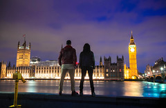 LONDONIGHT (Rober1000x) Tags: summer verano 2016 london londres england uk southbank river night historic architecture arquitectura bluehour lights tower bigben bridge westminster