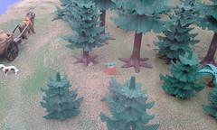 Ciudad medieval (lalex24) Tags: exposicionplaymobil playmobil ciudadmedieval bosque lagaero perro buey carro