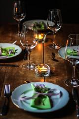 dinner for four (annkathrinxx) Tags: canon eos 700d raspberrysorbet annkathrinxx family dinner 50mm spring food wine love