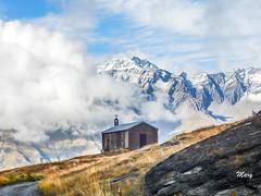 Eglise Saint Pierre au col du Mont Cenis. (Mary-Bel (Marie F Papin)) Tags: neige glisestpierre coldumontcenis