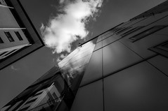 Eye in the sky (derekgordon1) Tags: coventry building reflections cloud sky lines abstract architecture cctv