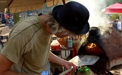 Pizza Man (Eddy Allart) Tags: oven stone smoke rook humo pie dude guy rotterdam street food streetfood katendrecht dutch holland straat festival