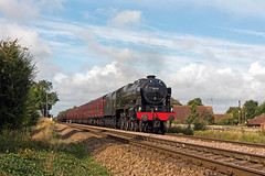 DCHC Holiday Express - LMS 46115 (FlyingScotsman4472) Tags: lms royal scot guardsman 46115 aslockton station dchc holiday express skegness 25th september 2016 steam rail tour