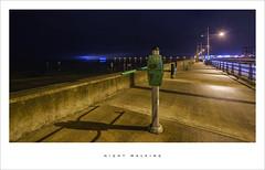 Night walking (Parallax Corporation) Tags: southport promenade nightime wideangle lights evening seaside lighttrails pier shadows