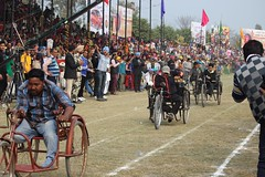 Currently the Rio 2016 Paralympics are on.  But do you know that there is a Rural Olympics held in Kila Raipur in Punjab where even some Paralympic events are also held? This here is a tricycle race.  #kilaraipur #rural #Olympics #countryside #Punjab #Ind (Anil.Yadav1) Tags: kilaraipur sports picoftheday incredibleindia punjab olympics paralympics race countryside climberexplorer india tricycle rural photooftheday