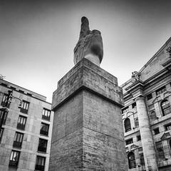 L.O.V.E. (Maurizio Cattelan) (attilio.pirino) Tags: sculpture finger architecture city scultura dito architettura citt bw bn milano italy