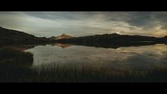 White Lake Sunset (Jeke's Photos) Tags: nature landscape canon landscapes lake sunset mountain moutains reflections cinematic reflection vanoise lacblanc parcdelavanoise canoneos5dmarkiii canonef1635f28