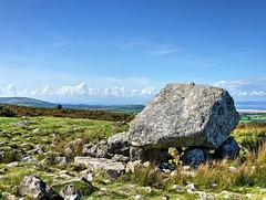 Arthur's Stone... (DawnWarrior) Tags: arthurs stone cefn bryn reynoldston gower south wales neolithic chambered cairn burial chamber loughor estuary ancient monument dawnwarrior clouds hills common heath