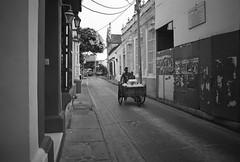 Streets of Cartagena (Magdalena Szata) Tags: analog bw cartagena colombia ilfordid11 kwiecie minoltaxd7 rolleiretro80s