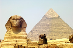Sphinx in front of Pyramid Giza (chrisdingsdale) Tags: egypt sphinx ancient giza pyramid cairo statue sky great desert travel monument history africa tourism ruin tomb landmark sand old stone culture khufu egyptian archaeology egyptology sculpture archeology face architecture civilization famous antique sunny past traditional art landscape historic grave carving wonder rock close