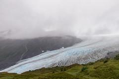 Exit Glacier in heavy fog.  Kenai Fjords National Park. (Matt Wicks / GreatDistances) Tags: 2016 alaska d610 exitglacier kenaifjordsnationalpark kenaipeninsula nikon northamerica usa glacier ice landscape nationalpark park