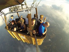 Birds eye view. Featured in Lancaster newspaper. (SaltyDogPhoto) Tags: gopro goprohero3 goprooftheday hotairballoon balloon basket wideangle areal arial view clouds sky ushotairballoonteam visitlancasterpa published selfie travel saltydogphoto