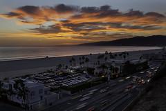 Santa Monica Sunset (rianklong) Tags: canon5dmarkii canoneos5dmarkii canonef2470mmf28liiusm santamonica california ca losangeles metro bluff sunset orange landscape clouds beach pch pacificcoasthighway californiaincline