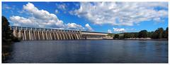 J. Strom Thurmond Dam at Clarks Hill Lake (daveelmore) Tags: jstromthurmonddamatclarkshilllake clarkshilllake hydroelectricdam dam savannahriver georgia southcarolina reservoir powerstation usarmycorpsofengineers stitchedpanorama panorama lumixleicadgsummilux25mm114