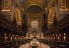 St Paul's Lates (plvision) Tags: london londres stpaul cathedral church cathédrale église greatfire350 greatfireoflondon night stpaulscathedral architecture perspective symmetry symmetrical choir lamp stpaulslates