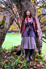 tree-hugger (natalie.nettle) Tags: autumn public stockings woodland tv cd sensual tgirl tranny transvestite romantic boho crossdresser bohemian stylish blackstockings convincing naturegirl outdoorlady
