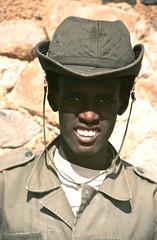 Soldier in Yebbi Bou, Tibesti Region, Chad (michael_jeddah) Tags: soldier desert chad tubu tschad tibesti tibbu yebbibou
