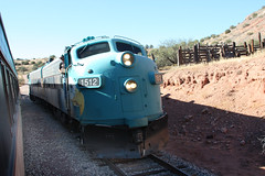 Verde Canyon Railroad (twm1340) Tags: county railroad arizona verde electric train diesel scenic az canyon locomotive 2012 fp7 clarkdale perkinsville yavapai emd