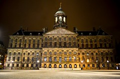 Royal Palace at night, Amsterdam - Koninklijk Paleis 's nachts, Amsterdam (Sir Francis Canker Photography ) Tags: longexposure trip travel bridge light sunset panorama holland tourism netherlands coffee beautiful dutch amsterdam sex skyline architecture night landscape real luces noche canal photo wooden nice arquitectura nikon europe view shot nacht dusk district gorgeous picture nederland royal coffeeshop landmark visit icon palace tourist best canals unesco vista nocturna palais holanda nl brug visiting palazzo nuit architettura icono joint olanda reale anochecer amstel canale zuid palacio lucena randstad canali neerlandais  sirfranciscankerjones pacocabezalopez