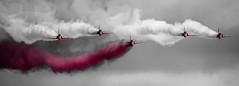 In The Pink - Red Arrows [Explored 10/11/2012] (BubsyBarr) Tags: scotland flying hawk aviation military jets redarrows raf aerobatics explored flickrexplored eastfortuneairshow bubsybarrexplored