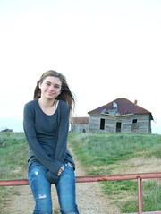 Country Girl (ASmith282) Tags: portrait house nature outdoors blueeyes oldhouse tinroof dilapidated blueeyedgirl