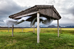 Beyond Flapping (claustral) Tags: grass iceland sheets laundry clothesline washing drying d800 airing mrudalur nikd mfybesticeland