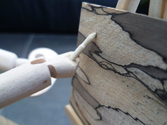 Claude the artist Close up paintbrush working on the sky landscape (Wanda Sowry) Tags: wood uk man male art painting landscape toy handle wooden paint artist handmade craft cams gift present british cogs paintbrush mechanism palette easel paintbrushes automata automaton