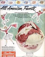 1951 sealtest Raspberry Vanilla ice cream (1950sUnlimited) Tags: food design desserts icecream 1950s packaging snacks 1960s dairy midcentury snackfood sealtest