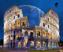 IMAGINARY RECONSTRUCTION OF THE COLOSSEUM (The PIX-JOCKEY (visual fantasist)) Tags: italy rome roma art history monument photoshop landscape italia fake manipulation colosseum fantasy photomontage chop coliseum colosseo fotomontaggi robertorizzato pixjockey
