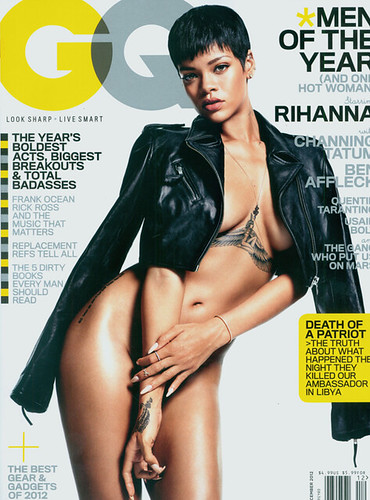 RIHANNA GQ MAGAZINE DEC 2012 ISSUE . Rihanna damn near naked in the Dec 2012 issue of GQ magazine