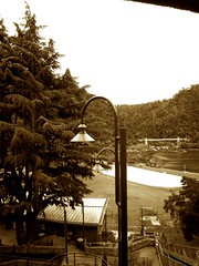 LAMP IN SEPIA (Rose Frankcombe) Tags: launceston cataractgorge urbanfragments northerntasmania firstbasin rosefrankcombe