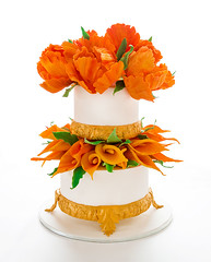 Orange tulip Wedding cake (Youset) Tags: wedding orange cake tulip tinas
